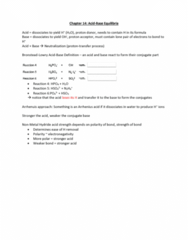 CHM135H1 Lecture Notes - Lecture 23: Lone Pair, Conjugate Acid, Electronegativity
