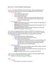 KNES 260 Study Guide - Midterm Guide: Inferior Vena Cava, Pulmonary Vein, Pulmonary Artery