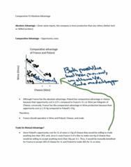 ECO100Y1 Midterm: Comparative VS Absolute Advantage