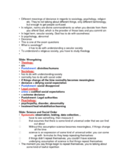 SOC211H5 Lecture Notes - Lecture 2: Psychopathy, Demonology