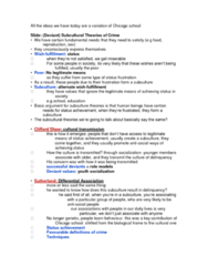 SOC211H5 Lecture Notes - Lecture 8: Counterculture, Social Learning Theory, Marxism