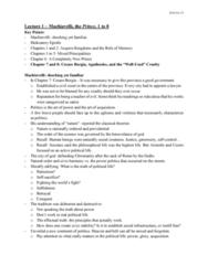 POL200Y1 Lecture Notes - Lecture 1: Cardinal Virtues, Civics, Cesare Borgia