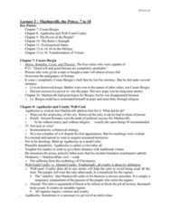 POL200Y1 Lecture Notes - Lecture 2: Tendon, Cesare Borgia, Plausible Deniability