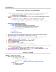 ECON 104 Study Guide - Midterm Guide: Autarky, Efficiency Wage, Workforce Productivity