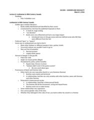 SOC395H1 Lecture Notes - Lecture 6: Lesbian Literature