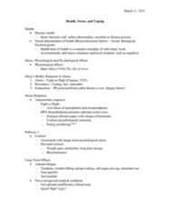 PSYC 1030H Lecture Notes - Lecture 8: Delayed Gratification, Adrenal Fatigue, Hans Selye