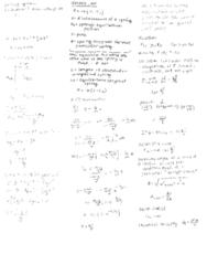 PHYSICS 7A Midterm: Midterm I Cheat Sheet