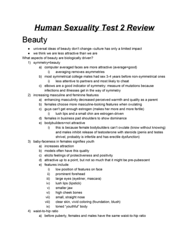 Sexuality test review