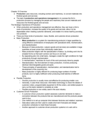 RSM100Y1 Chapter Notes - Chapter 10: Flexible Manufacturing System, Mass Production, Operations Management