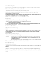 PSYC 3P60 Lecture Notes - Lecture 9: Imitative Learning, Washing Machine, Cultural Learning