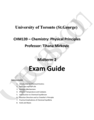 CHM139H1 Midterm: Complete and Comprehensive 26- Page Midterm#2 Study Guide - Winter 2016