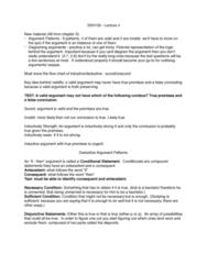 SSH 105 Lecture Notes - Lecture 4: Inductive Reasoning, Modus Ponens, Modus Tollens