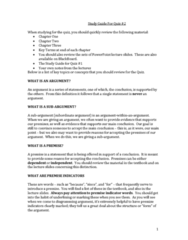 SSH105 Quiz: Study Guide For Quiz #2