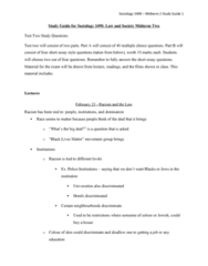 SOC3490 Midterm: Covers everything for Midterm 2! 79 Page Study Guide