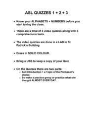 ASLA 1010 Lecture 2: ASL QUIZZES BREAKDOWN.