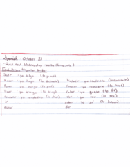 SPAN100A Lecture 7: First Person Irregular Verbs