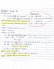 SPAN100A Lecture 8: Personal A and Direct Object Pronouns
