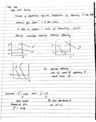 ECON 365 Lecture 6: Peak Load Pricing I