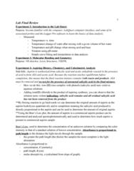CHEM-UA 126 Study Guide - Final Guide: Ni Ni, Buffer Solution, Potassium Iodide
