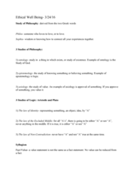 PHIL 110 Lecture Notes - Lecture 1: Axiology, Emotivism