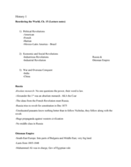 HIST 101 Lecture Notes - Lecture 1: Absolute Monarchy, Southeast Europe