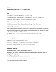 HIST 101 Lecture Notes - Lecture 2: Chinese Tea