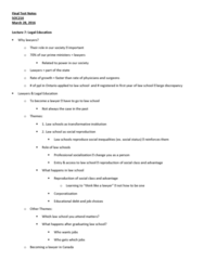 SOC216H5 Study Guide - Final Guide: Billable Hours, Legal Education, Law School Admission Test
