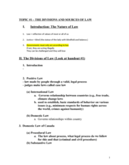 CRIM 135 Lecture Notes - Lecture 1: Procedural Law, Starbucks, Royal Assent
