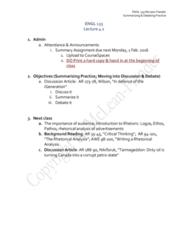 ENGL 101 Lecture Notes - Lecture 4: Generation Z, Pathos, Millennials
