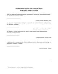 SOCWK120R Final: Sample Key Term Questions
