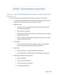 SOC263H5 Lecture Notes - Lecture 1: Social Inequality, Gerhard Lenski, Kingsley Davis