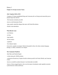 HIST 101 Lecture Notes - Lecture 3: The Communist Manifesto, Utopian Socialism, Scientific Socialism