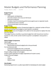 ACCT 202 Chapter Notes - Chapter 20: Budget, Management Accounting, Accounts Payable