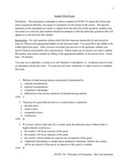 ECON 21000 Midterm: ECON 210 Sample Exam 3
