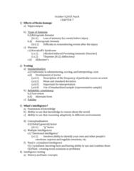 PSY 1410 Lecture Notes - Lecture 17: Amnesia, Standard Deviation, Thiamine