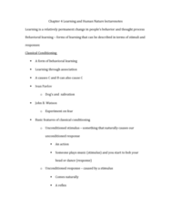 PSYC 050 Lecture Notes - Lecture 5: Little Albert Experiment, Behaviorism, Desert Island