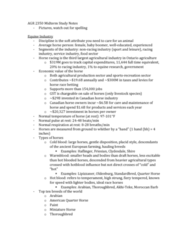 AGR 2350 Study Guide - Midterm Guide: Ice Cream, Castration, Livestock Dehorning