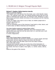 RE100 Lecture Notes - Lecture 3: Helen Hunt Jackson, Henry David Thoreau, Gilded Age