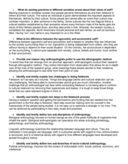 ANTH 1120 Study Guide - Midterm Guide: Linguistic Anthropology, Cultural Relativism, Biological Anthropology
