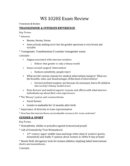 Women's Studies 1020E Study Guide - Final Guide: Essentialism, Womanism, Feminist Epistemology