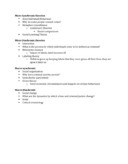 CRM 2301 Lecture Notes - Lecture 2: Synecdoche, Critical Criminology, Social Change