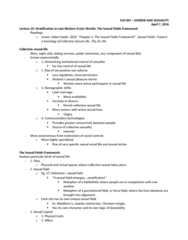 SOC395H1 Lecture Notes - Lecture 10: Code-Switching, Sexual Capital, Sildenafil