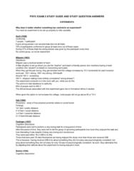 PSYC 1F90 Study Guide - Final Guide: Cognitive Dissonance, Fundamental Attribution Error, Sleep Paralysis
