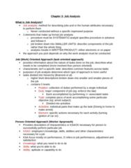 Psychology 2660A/B Study Guide - Midterm Guide: Job Analysis, Job Performance, Job Evaluation