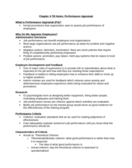 Psychology 2660A/B Study Guide - Midterm Guide: Performance Appraisal, Job Performance, Job Analysis