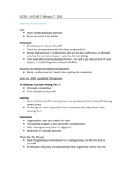 SOC355H5 Lecture Notes - Lecture 5: Shift Work, Corporate Finance, Meritocracy