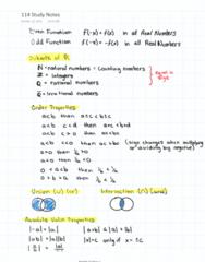 MATH 114 Final: Math 114 Study Notes