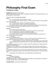 PHLA10H3 Study Guide - Final Guide: Theistic Evolution, Cosmological Argument, Intelligent Design