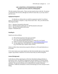 PSY 3108 Lecture Notes - Lecture 1: Absolute Threshold, Arithmetic Logic Unit, Curve Fitting