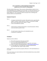 PSY 3108 Lecture Notes - Lecture 2: Power Law, Stopwatch, Microsoft Excel